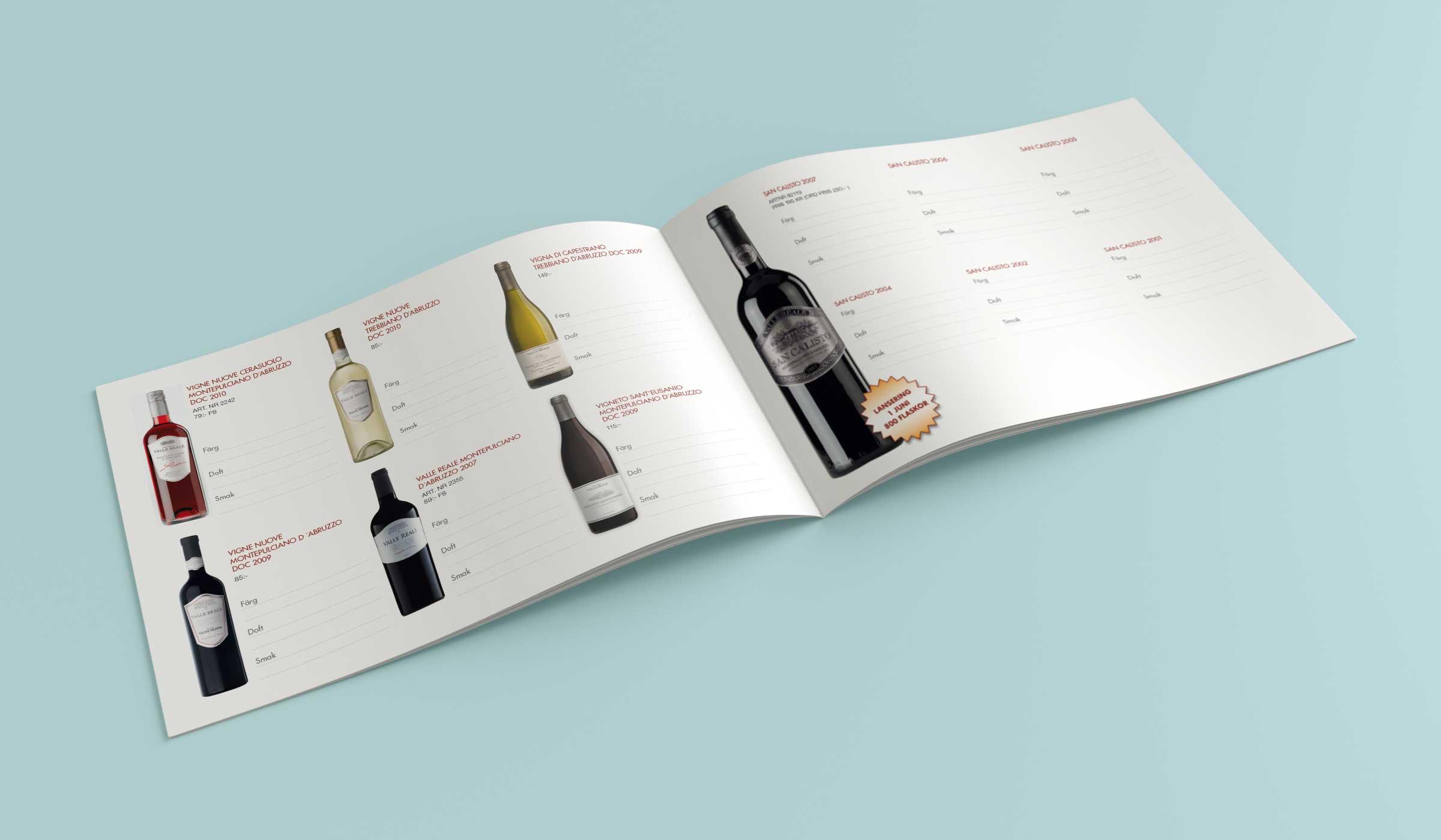 Valle Reale vinprotokoll inlaga