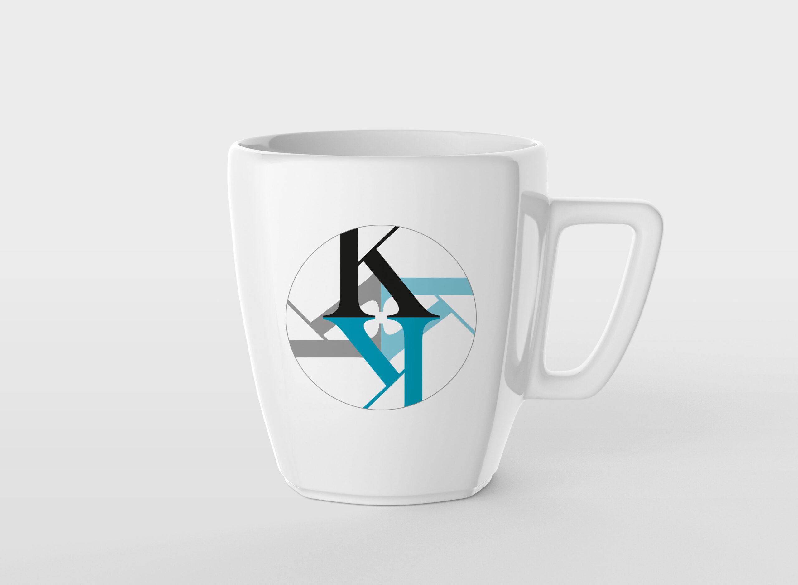 Kompani Kalejdo logo på mugg
