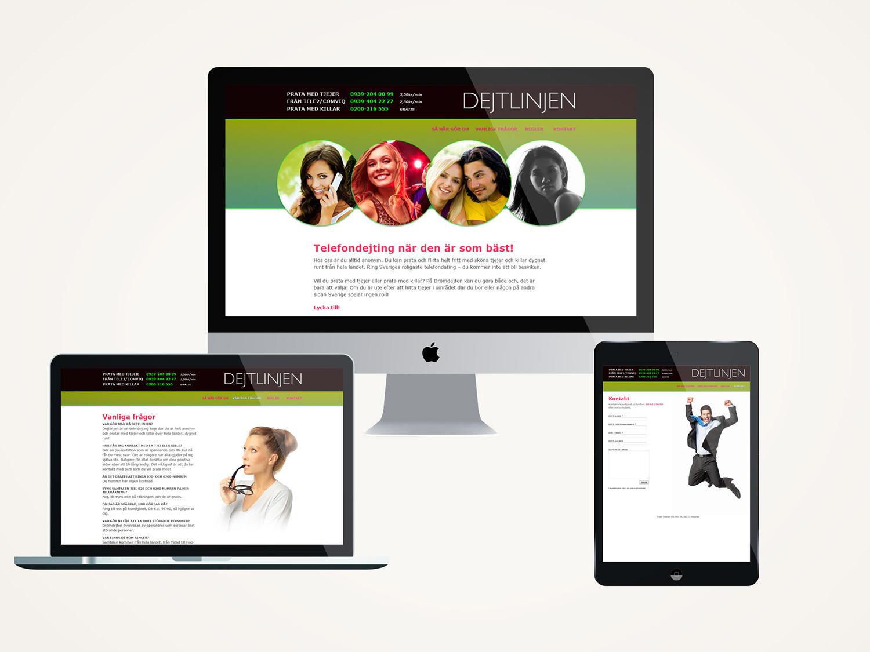 UI webbdesign för Dejtlinjen