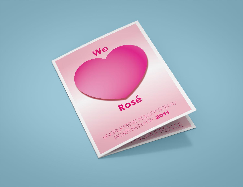 We love Rosé, Vingruppen omslag