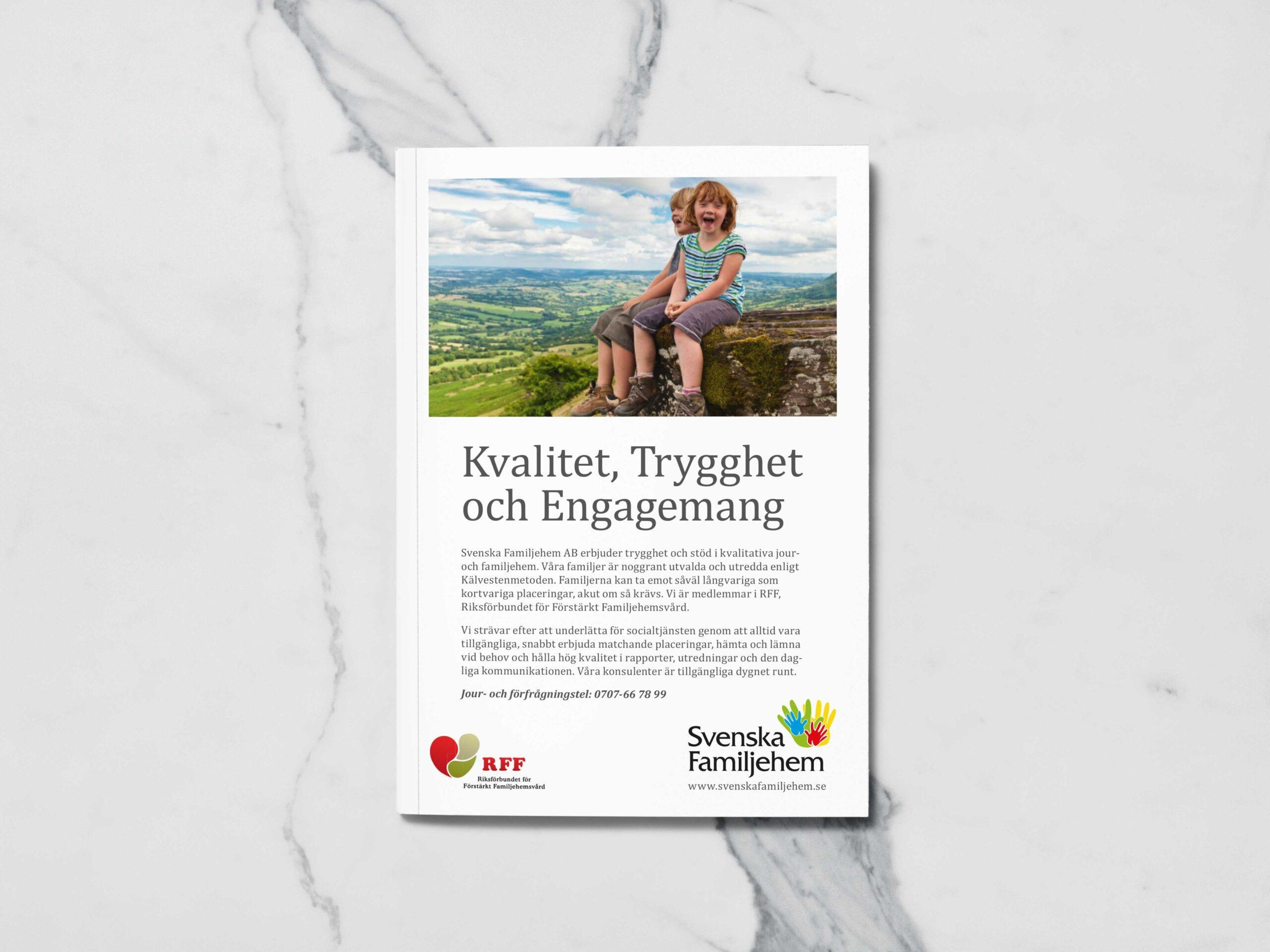 Svenska Familjehem folder omslag