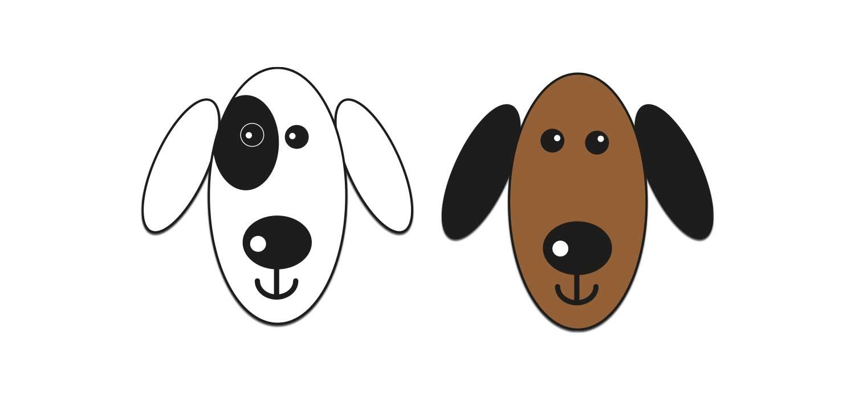 """Illustrerade hundar för """"Min hund vill ha riktig mat"""""""""""